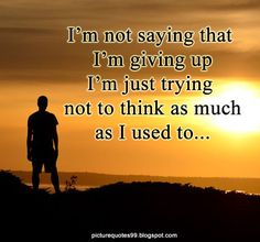Picture Quotes: I'm not saying that I'm giving up