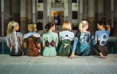 Storm's Back Catalogue is exactly that. Not a row of polite captioned JPEGs but the album covers painted on the back of lovely ladies. That's the sort of thing you can get away with if you're Storm Thorgerson.