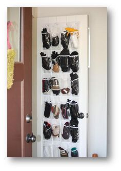 Use a shoe organizer for all your winter stuff (gloves, hats, mittens, etc).