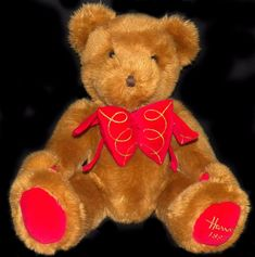 Vintage 1997 Limited Edition Harrods Knightsbridge UK Foot Dated Christmas Bear #Harrods #Christmas