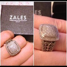 Diamond ring. By Zales. Gorgerous. Timeless. Fits size 6-7. Silver 925 with diamonds appx 0,75 carat. Zales Jewelry Rings