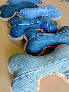 Denim Dog Toys - BURLYSHIRTS