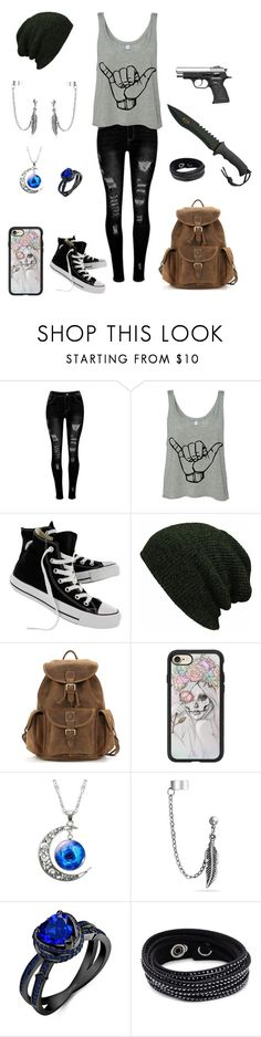 """""""#2"""" by ms-alyssadunn ❤ liked on Polyvore featuring Converse, Casetify, Bling Jewelry and Swarovski"""