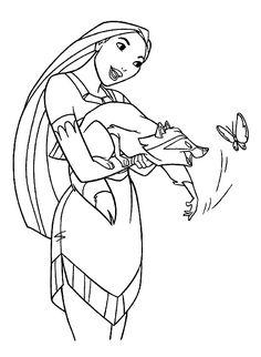 Disney Målarbilder för barn. Teckningar online till skriv