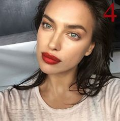 Red Lips & Dewy Skin