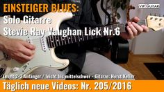 ✪ EINSTEIGER BLUES ►Stevie Ray Vaughan Lick Nr.6