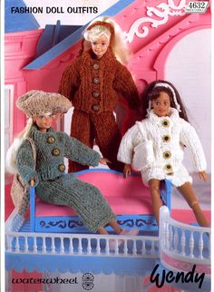 Wendy or Barbie Knitted Outfits Patterns ~ Knitting Free
