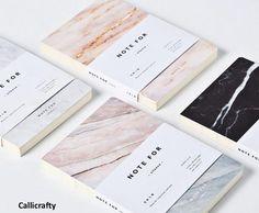 Minimalist Marble Notebook Journal Planner Journal by Callicrafty