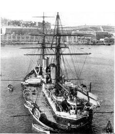 """HMS """"Inflexible"""" battleship 1890s"""