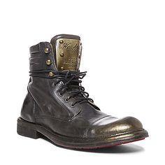 COMMANDR BLACK LEATHER men's boot casual gore - Steve Madden #mensgrunge