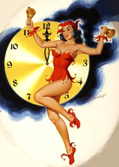 Happy New Year! (via Pin Up and Cartoon Girls) Bill Randall