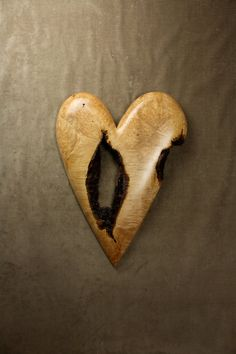 Personalized Wooden Heart Wood Carving, Anniversary Gift for Her, Ooak Wedding Gift Wall Art by Gary Burns the Treewiz, Handmade in Oregon