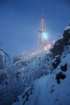 Weihnachtliche Beleuchtung auf dem Uetliberg-Turm. Flickr - Photo Sharing The Mont, Festivals Around The World, Alps, Rocky Mountains, Great Places, Switzerland, Travel Destinations, Around The Worlds, Amazing