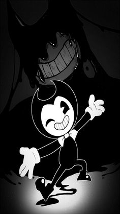 Bendy the Dancing Demon Bendy And The Ink Machine, Nocturne, Tatuaje Rick And Morty, Machine Songs, Bendy Y Boris, Alice Angel, Just Ink, Beast, Felix The Cats