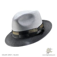 Classy and modern is the Stetson Andover Fedora. The two tone Florentine Milan is decoarted with a sleek hatband with a stetson sidepin.