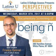 """""""On Wednesday March 8th ,  @latinouaccess  will host our CEO @franco_cabral1 as he speaks about his…"""""""