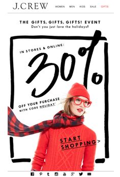 2014 J.Crew Holiday Email Design
