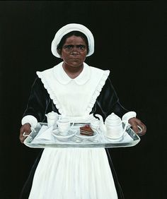 """Exhibition: 'Storm in a Teacup' at the Mornington Peninsula Regional Art Gallery, Mornington. """"This is the best thematic group exhibition I have seen in Melbourne and surrounds this year."""" http://artblart.com/2015/09/20/exhibition-storm-in-a-teacup-at-the-mornington-peninsula-regional-art-gallery-mornington/ Art work: Julie Dowling (b. Australia 1969) Badimaya people, Western Australia 'White with one' 2003"""