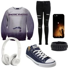 Imagine Dragons <3 by cookieshavefeet on Polyvore featuring polyvore, fashion, style, Miss Selfridge, Converse, Frye and Casetify