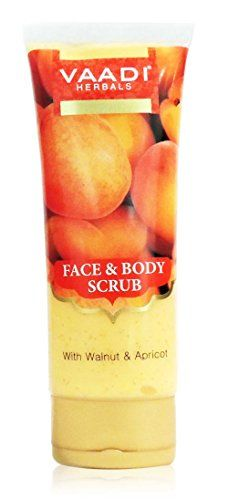 Face Scrub  Herbal Cream  Prevent Dark Spots Formation  Reduce Uneven Pigmentation  Unclog Pores  Remove Dead Skin Cells  Blackheads  Vaadi HerbalsFace  Body Scrub with Walnut  Apricot ** You can find more details by visiting the affiliate link Amazon.com.