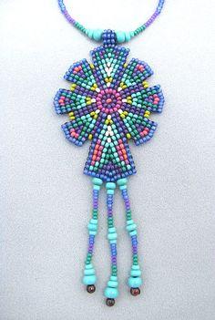 Mandala semilla de cuentas. Collar de geometría sagrada.
