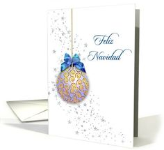 16 best all things spanish images on pinterest greeting cards spanish christmas card blue ornament and stars card sold to customer in united kingdom m4hsunfo