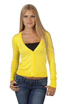 Hollywood Star Fashion Women's V-Neck Full-Sleeve Button Cardigan (Small, Yellow) Hollywood Star Fashion http://www.amazon.com/dp/B00LYTBUPA/ref=cm_sw_r_pi_dp_tZTlub0Y4H1VE