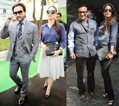 Kareena Kapoor and Saif Ali Khan Matching Outfits