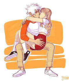 Smooch- Soul and Maka's romantic kiss from Soul Eater Soul Eater Evans, Soma Soul Eater, Soul Eater Funny, Soul Eater Stein, Soul Eater Manga, M Anime, Anime Guys, Anime Stuff, Anime Naruto