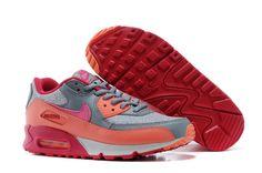 Nike Air Max 90 Oranje Rood Arancio Rosso Silver Vrouwen Schoenen €48,48