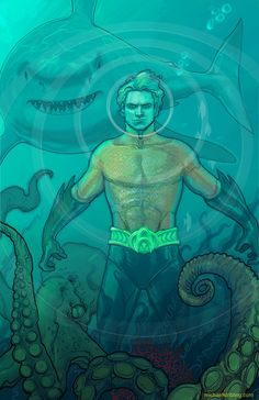 Aquaman, the only time he's ever looked cool...