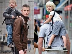 The Piggyback Rider is a light weight carrier that is super fun the your child and super comfy for the parent.