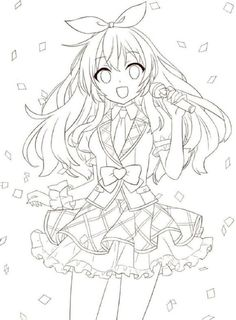 Anime Coloring Books for Adults Best Of Red Princess Coloring Book – Colorir. Chibi Coloring Pages, Cute Coloring Pages, Adult Coloring Pages, Coloring Books, Anime Drawings Sketches, Anime Sketch, Cute Drawings, Cartoon Girl Drawing, Manga Drawing