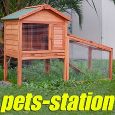 2 Storey Rabbit Hutch With RUN Guinea PIG Ferret Cage | eBay