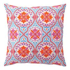 Bright and expressive, this handcrafted pillow will add life to any room. The bold colors and vintage-inspired design combine to make a piece sure to be the ...