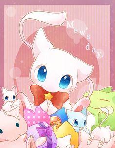 Pokemon Pikachu, Pokemon Mew, Pokemon Fan Art, Pokemon Sprites, Cute Pokemon Pictures, Pokemon Images, Cute Pictures, Mew And Mewtwo, Mythical Pokemon