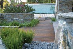 Gartengestaltung modern mit steinen