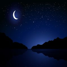 Starry Night With Crescent Moon Night Background, Photo Background Images, Photo Backgrounds, Eid Al Adha, Night Forest, Forest Girl, Night Window, Midnight City, Yellow Moon