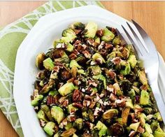 Roasted Brussels Sprouts with Crispy Pancetta and goat cheese.  Farmhouse Rules ...Nancy Fuller