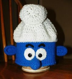 You'll be singing a happy song after you make and wear this awesome Smurf Hat!  Crochet hat patterns are great for beginners, so there's no excuses!  Make a Smurf Hat for you and all of your friends!