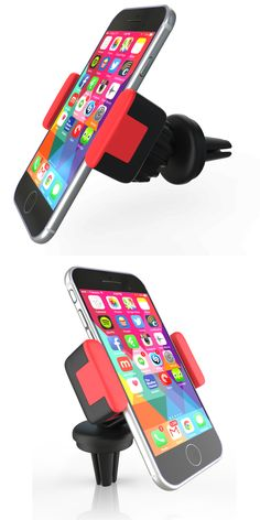 """Best Quality Smartphone Car Mount  Keymexx  - Extremely Compact Cell Phone Holder - For Iphone 6 6+ 5 5S 5C 4 4S Nexus HTC LG Samsung Galaxy S5 S4 S3 Note 4 3 and other Smartphones or Android Devices up to 5.5"""" - Easily Attaches to Any Air Vent - Ultra Durable Grip - 360 Degree Swivel for Easy Viewing You Cell From Any Angle http://www.store.keymexx.com/"""