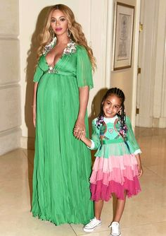 Beyonce shared a series of cute new pics with her husband, Jay Z, and their daughter, Blue Ivy, at the 'Beauty and the Beast' movie premiere — photos