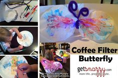Coffee Filter Butterfly - Toddler Activity - The Very Hungry Caterpillar