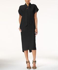 Rachel Rachel Roy Tie-Neck Midi Dress