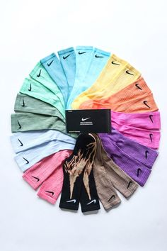 Nike Ankle Socks Dyed Hand Made Colors Available : Brown - Purple - Pink - Orange - Yellow - Blue - Emeraude - Green - Forest green - Light blue -. Tie Dye Outfits, Nike Outfits, Aesthetic Shoes, Aesthetic Clothes, Teen Fashion Outfits, Look Fashion, Basket Style, Tie Dye Socks, Cute Lazy Outfits