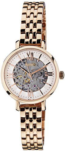 be816bd6ca1b8f Fossil Womens ME3072 Jacqueline Small Analog Display Automatic Self Wind Rose  Gold Watch   For more