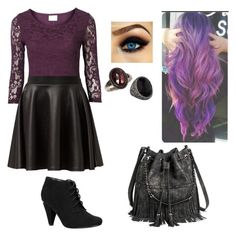 """""""I am not my mother (Disney Descendants Mal)"""" by daisyrose216summers ❤ liked on Polyvore featuring Cameo Rose, Call it SPRING, Mossimo and Sevan Biçakçi"""