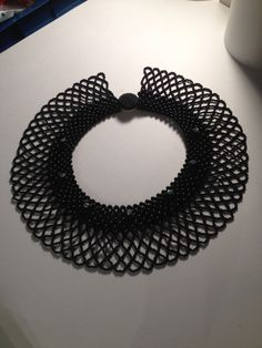 Gorgeous Vintage Black Beaded Collar