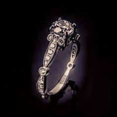 hand-made, custom platinum and diamond engagement ring. http://www.fluxjewelry.com/s-and-o.html
