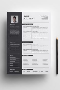 Jeams Cleans Resume Template ---CLICK IMAGE FOR MORE--- resume how to write a resume resume tips resume examples for student Business Resume Template, Modern Resume Template, Creative Resume Templates, Free Resume, Resume Design Template, Cv Template, Free Design Templates, Conception Cv, Basic Resume